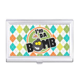Bomba da Dinamarca Teste padrão colorido de Porta Cartões