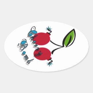 Bomba de cereja adesivos ovais
