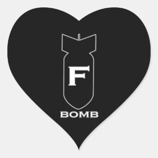 Bomba de F Adesivo Coração