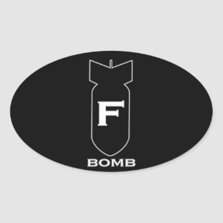 Bomba de F Adesivo Oval