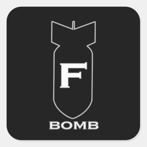 Bomba de F Adesivo Quadrado