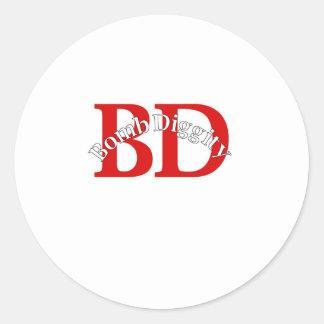 Bomba Diggity (velha escola) Adesivo
