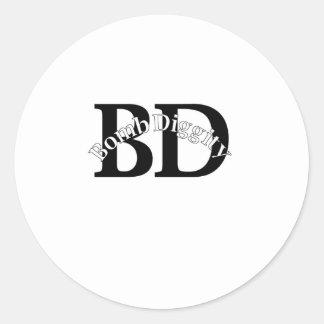 Bomba Diggity (velha escola) Adesivo Redondo