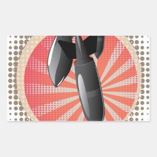 Bomba do ar dos desenhos animados adesivo retangular
