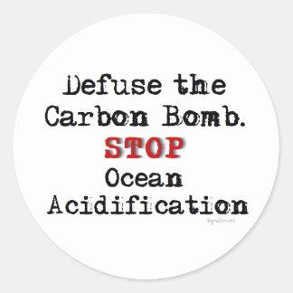 Bomba do carbono adesivo em formato redondo