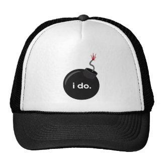 Bomba do casamento - chapéu do despedida de soltei boné