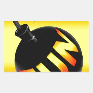 bomba do divertimento adesivo retangular
