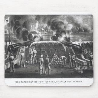 Bombardeio do forte Sumter, porto de Charleston Mousepads