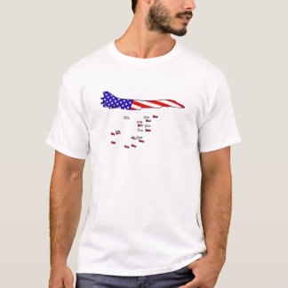 Bombardeiro americano camiseta