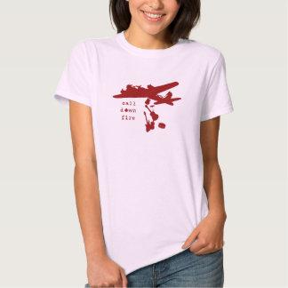 Bombardeiro cor-de-rosa da banda t-shirt