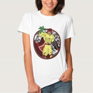 Bombardeiro da cereja para mulheres camisetas