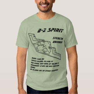 Bombardeiro do discrição do espírito B-2 Tshirt