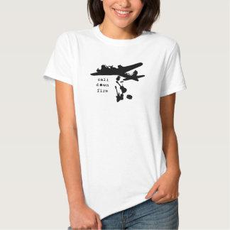 Bombardeiro preto da banda t-shirt