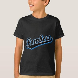 Bombardeiros em preto e no azul camisetas
