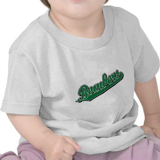 Bombardeiros no verde camisetas