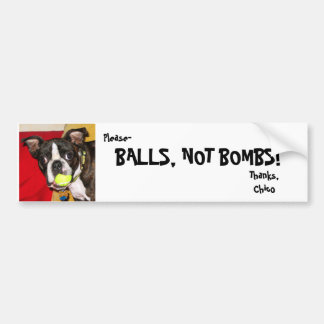 Bombas das bolas não, BOLAS, NÃO BOMBAS! , Obrigad Adesivo Para Carro