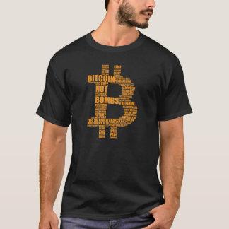 Bombas de Bitcoin não - nuble-se a camisa preta de