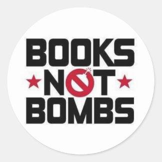bombas dos livros não adesivo redondo