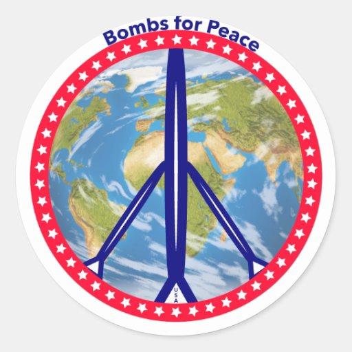 Bombas para etiquetas da paz adesivos em formato redondos