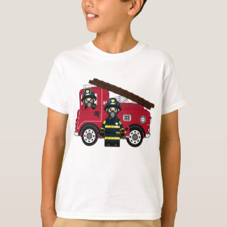 Bombeiro bonito dos desenhos animados camiseta