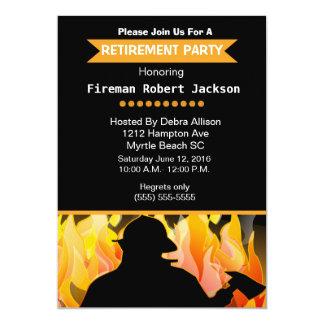 Bombeiro/chefe dos bombeiros do convite da