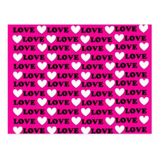 Bombom é toda sobre o amor - eu te amo cartão postal