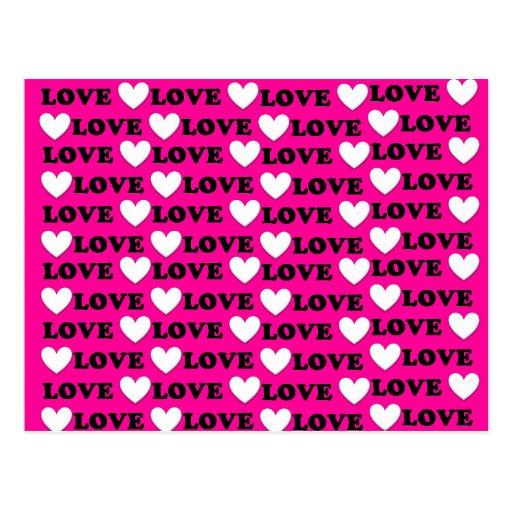 Bombom é toda sobre o amor - eu te amo cartões postais