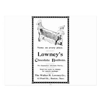 Bombons do chocolate de Lowney Cartão Postal