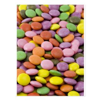 Bombons doces de Colourised Cartão Postal