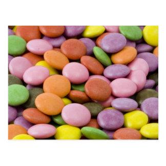 Bombons doces de Colourised Cartões Postais