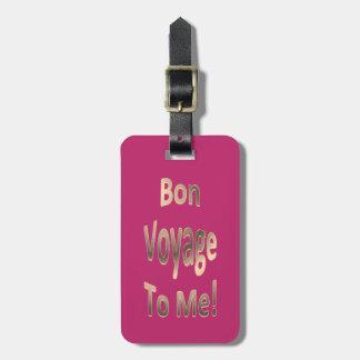 Bon voyage a MIM 02 personalizado Tags De Mala
