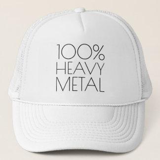 Boné 100 por cento de metal pesado engraçado