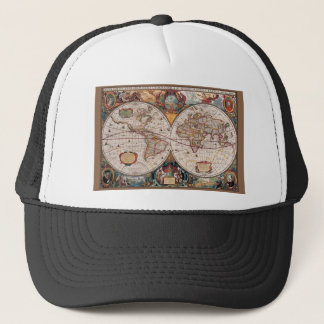 Boné 1600s do século XVII originais do latino do mapa