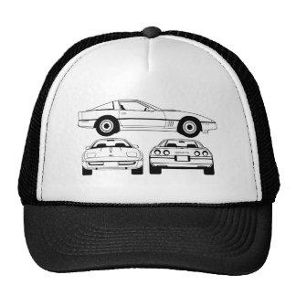 Boné 1984 esquemático de Chevrolet Corvette