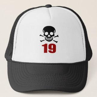 Boné 19 designs do aniversário