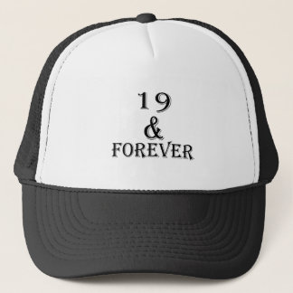 Boné 19 e para sempre design do aniversário