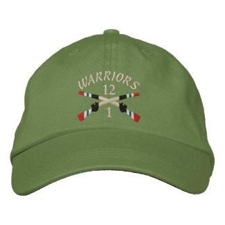 Boné 1-12o Inf. Iraque cruzou o chapéu bordado rifles