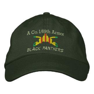 Boné 1/69th Chapéu bordado ramo da armadura da armadura