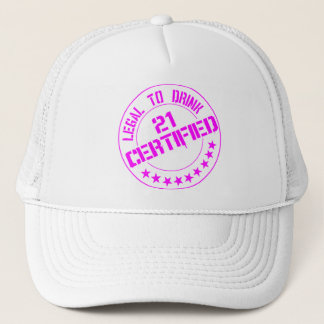 Boné 21 agora certificados legais a Bebida-cor-de-rosa