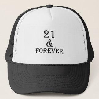 Boné 21 e para sempre design do aniversário
