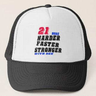 Boné 21 mais fortes mais rápidos mais duros com idade