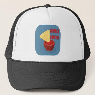 Boné 24 de fevereiro dia da microplaqueta de tortilha -