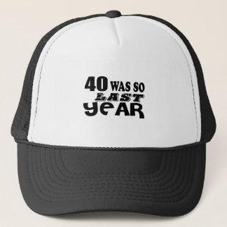 Boné 40 era assim tão no ano passado o design do