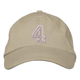 """Boné """"4"""" número atlético pequeno"""