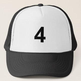 Boné 4 - número quatro