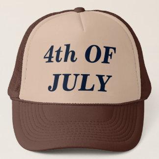 Boné 4o Do chapéu do camionista de julho