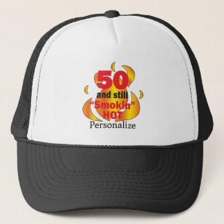 Boné 50 e nome quente do aniversário   DIY de Smokin  