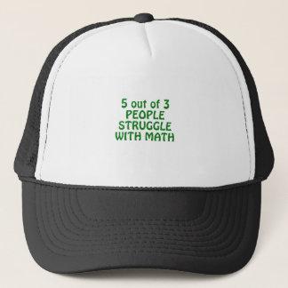 Boné 5 de 3 pessoas do esforço com matemática