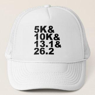 Boné 5K&10K&13.1&26.2 (preto)