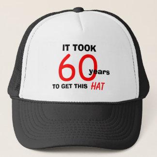 Boné 60th Chapéu dos presentes da mordaça do